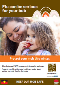 Protect Your Little One From Flu (poster)