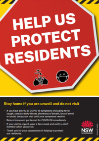 Help us protect residents (poster)
