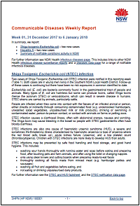 Communicable Diseases Weekly Report (CDWR) - 2018