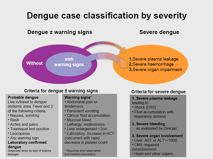 Dengue case classification by severity