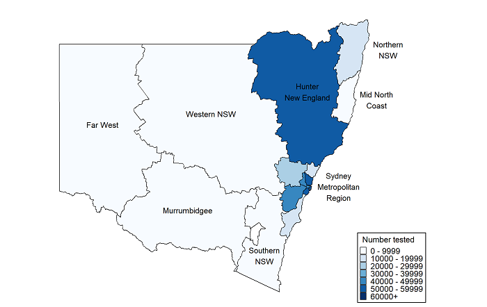 NSW COVID-19 case statistics by local health district ...