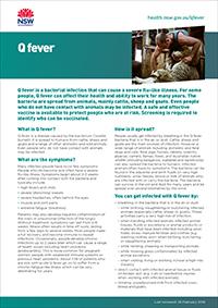 Q fever - Diseases