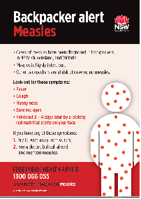 Measles alert for backpackers