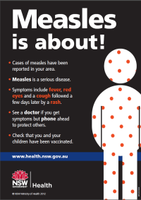 Poster - Measles is about