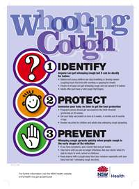 Whooping Cough: Identify, Protect, Prevent Poster