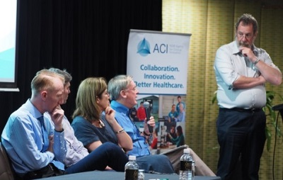 Panel discussion on appropriatness of surgery with Prof Ken Hillman, Prof Jacqui Close, Mr David Gray, Mr Matt Jennings