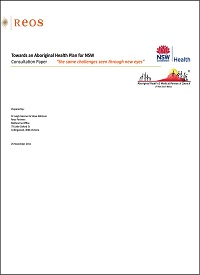 Towards an Aboriginal Health Plan for NSW - Consultation Paper 1 Thumbnail
