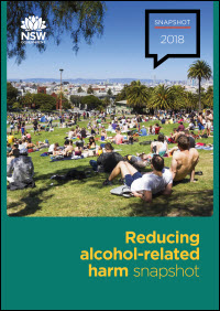 Reducing alcohol-related harm snapshot 2018
