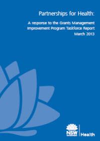 Partnerships for Health: A response to the Grants Management Improvement Program Taskforce Report