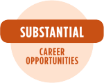 Substantial career opportunities