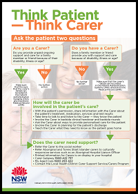 Thumbnail image of Think Patient, Think Carer poster