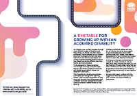 A timetable for growing up with an acquired disability