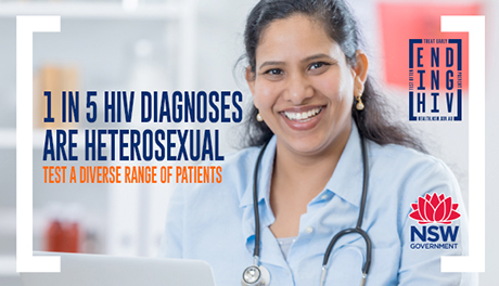 1 in 5 diagnoses in NSW are heterosexual