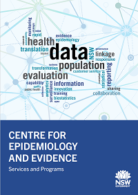 Centre for Epidemiology and Evidence: Services and Programs