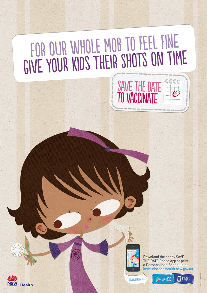 Save the Date to Vaccinate Poster