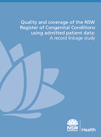 NSW Register of Congenital Conditions record linkage study
