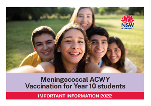 Meningococcal ACWY Vaccination for Year 10-11 students
