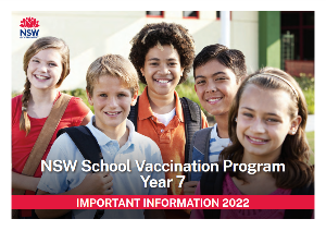 NSW School Vaccination Program - Year 7
