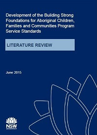 Building Strong Foundations (BSF) Program Service Standards: Literature Review