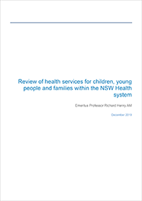 Review of health services for children, young people and families within the NSW Health system