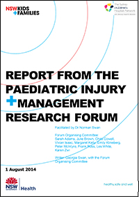 Report from the Paediatric Injury and Management Research Forum