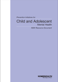 Prevention Initiatives for Child and Adolescent Mental Health