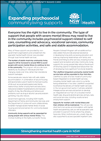 Expanding Psychosocial Community-Living Supports