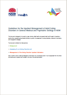 Guidelines for the Inpatient Management of Adult Eating Disorders in General Medical and Psychiatric Settings in NSW