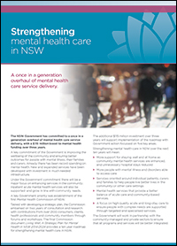 Strengthening Mental Health Care in NSW