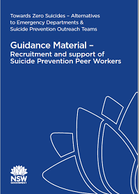 Guidance Material – Recruitment and support of Suicide Prevention Peer Workers