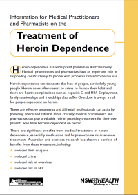Information for Medical Practitioners and Pharmacists on the Treatment of Heroin Dependence