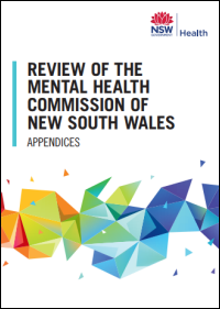 Review of the Mental Health Commission of NSW Report to Parliament 2018 - Appendices