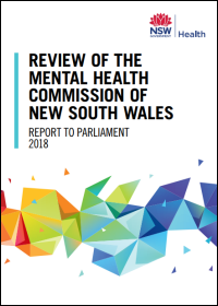 Review of the Mental Health Commission NSW - Report to Parliament 2018