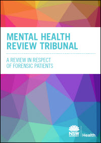 Review of the operation of Mental Health Review Tribunal in respect of forensic patients discussion paper