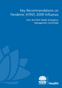 Key Recommendations on Pandemic (H1N1) 2009 Influenza