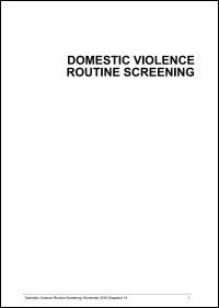 Domestic violence routine screening program: Snapshot report 2016