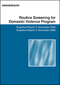 Routine screening for domestic violence program