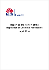 Report on the Review of the Regulation of Cosmetic Procedures