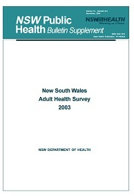 NSW Adult Health Survey 2003