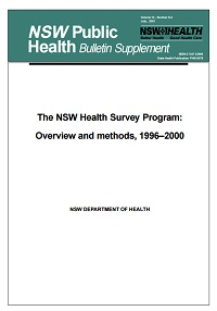 The NSW Health Survey Program: Overview and methods, 1996-2000