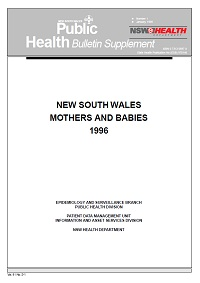 NSW Mothers and Babies 1996