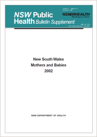 NSW Mothers and Babies 2002