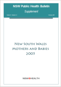 NSW Mothers and Babies 2005