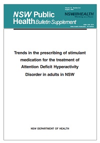 Trends in the Prescribing of Stimulant Medication for the Treatment of Attention Deficit Hyperactivity Disorder in Adults in NSW