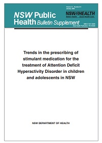 Trends in the Prescribing of Stimulant Medication for the Treatment of ADHD in Children and Adolescents in NSW