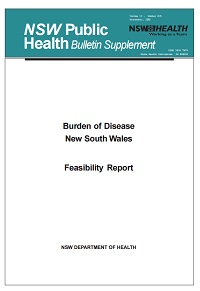 Burden of Disease NSW - Feasibility Report