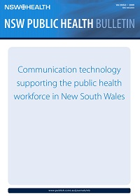 Communication Technology Supporting the Public Health Workforce