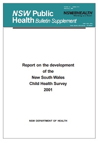 Report on the Development of the NSW Child Health Survey 2001