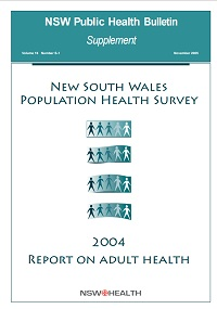 NSW Population Health Survey - 2004 Report on Adult Health