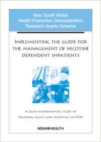 Implementing the Guide for the Management of Nicotine Dependent Inpatients